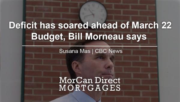 Deficit has soared-Bill Morneau